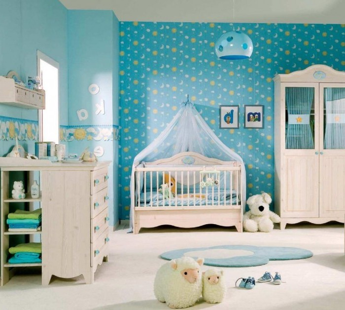 Sky-blue-and-white-nursery