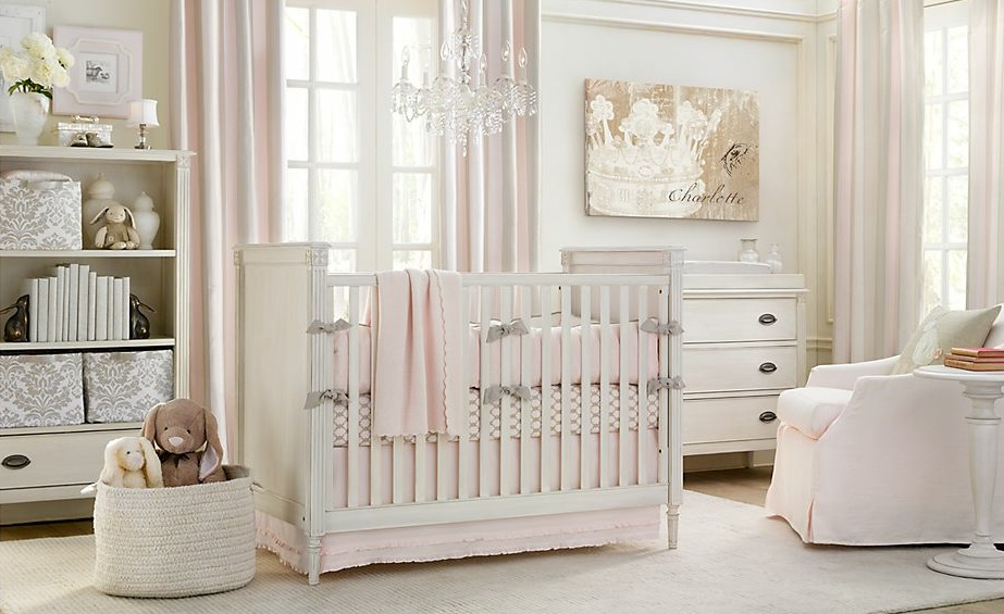 white-pink-baby-nusery